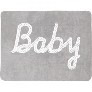TAPIS BABY PETIT POINT GRIS