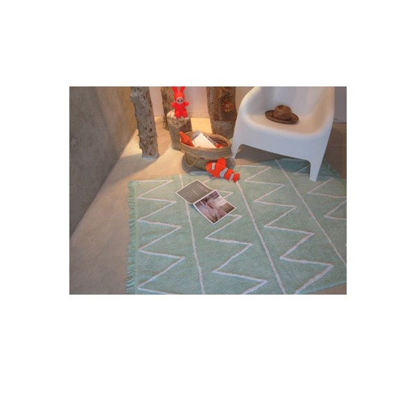 Tapis A Triangles Multicolores : Tapis triangles vert lorena canals