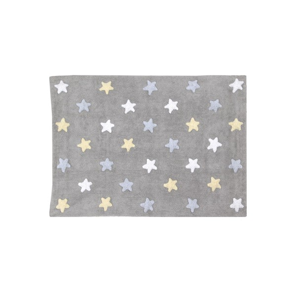 tapis stars gris bleu lorena canals. Black Bedroom Furniture Sets. Home Design Ideas