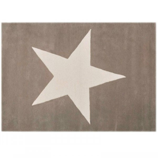 Tapis Laine Lin Etoile Blanche Lorena Canals