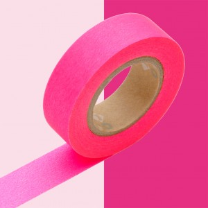 MASKING TAPE - RUBAN ADHESIF JAPONAIS - 1 P BASIC - SHOCKING PINK