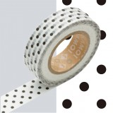 MASKING TAPE - RUBAN ADHESIF JAPONAIS - 1 P DECO - DOT MONOCHROME