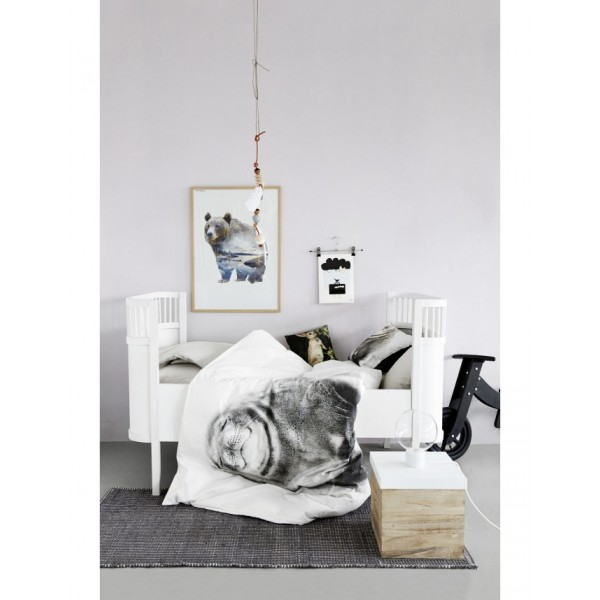 housse de couette b b motif phoque marque danoise de d co scandinave by nord. Black Bedroom Furniture Sets. Home Design Ideas