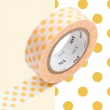 MASKING TAPE - RUBAN ADHESIF JAPONAIS - 1 P DECO - DOT APRICOT