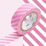 MASKING TAPE - RUBAN ADHESIF JAPONAIS - 1 P DECO - STRIPE PINK