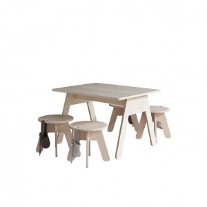 "BUREAU ENFANT DESIGN 80X60 CM - KUTIKAI ""THE PEEKABOO COLLECTION"""