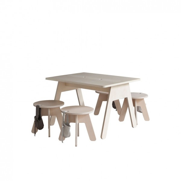 Bureau enfant design 80x60 cm kutikai the peekaboo collection for Bureau 80x60