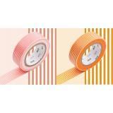 MASKING TAPE - RUBAN ADHESIF JAPONAIS - 2 P DECO - BORDER SANGO/DAIDAI