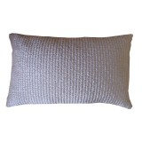 MAISON DE VACANCES - COUSSIN PANNE DE VELOURS MATELASSEE/LIN  BICHE - 30x50CM