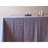 NAPPE EN LIN LAVE 170x380cm &quot;STONE WASHED&quot; - COLORIS AU CHOIX 