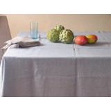 NESTOR DU LIN - NAPPE EN LIN LAVE &quot;STONE WASHED&quot; - GRIS SOURIS