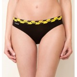 "HIPSTRIPES - BIKINI ""HANDLE WITH CARE"" RAYURES NOIR ET JAUNE"