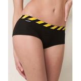 HIPSTRIPES - SHORT RAYURES NOIR ET JAUNE (SANS MESSAGE)