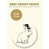 BADGE LAPIN MAGICIEN