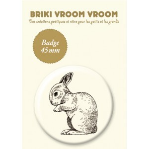 BADGE LAPIN RETRO