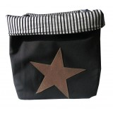 EVA &amp; OLI - PANIER DE RANGEMENT STAR PAILLETEE BLACK (GRAND) 