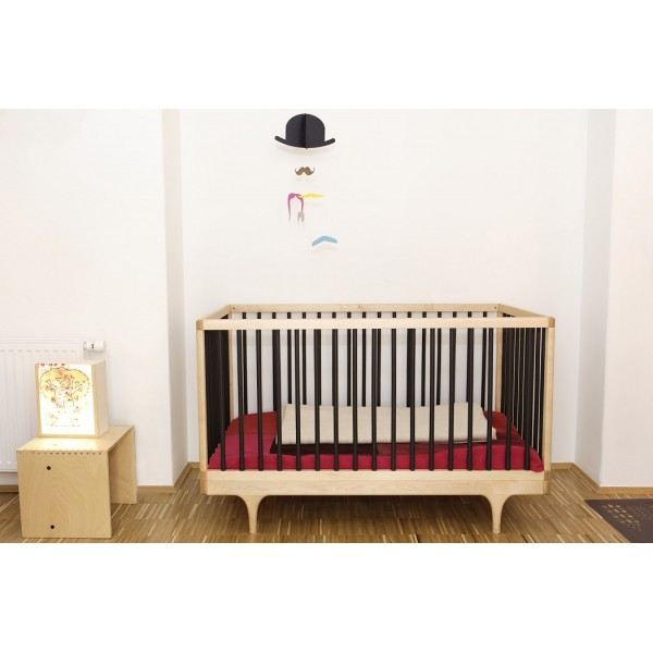 lit bebe caravan barreaux noir kalon studios caravan crib lit bebe evolutif design. Black Bedroom Furniture Sets. Home Design Ideas