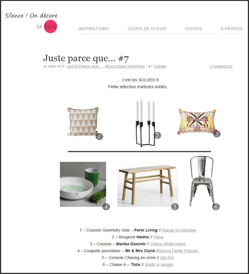 selection soldes aout chiara stella home par silence on decore