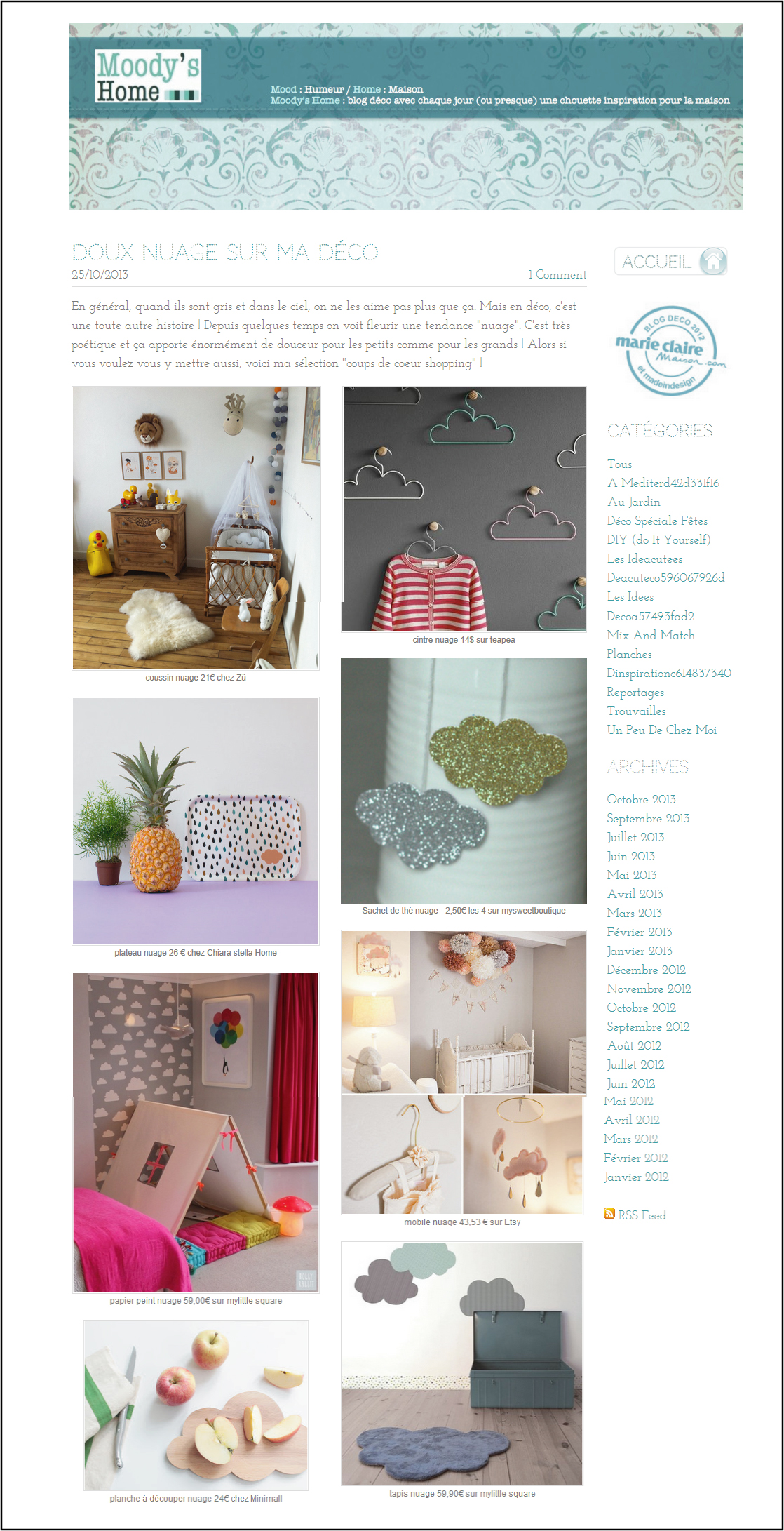 moodys home blog marie claire 2012-2013 selection nuage